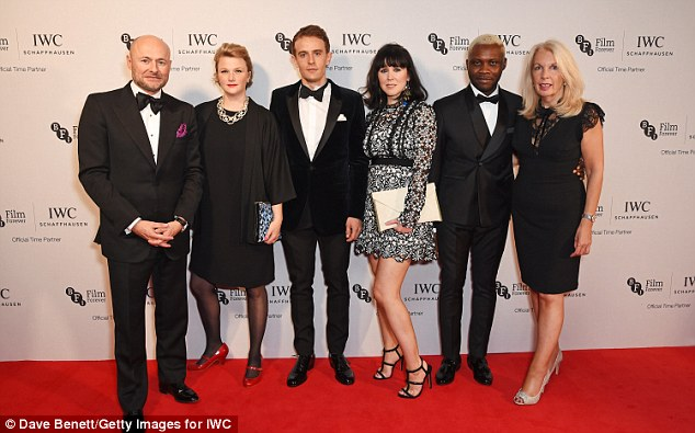 Full line-up: IWC CEO Georges Kern, Hope Dickson-Leach, Paul Anton Smith, Alice Lowe, Joseph Adesunloye and BFI CEO Amanda Nevill (from left to right) posed on the red carpet