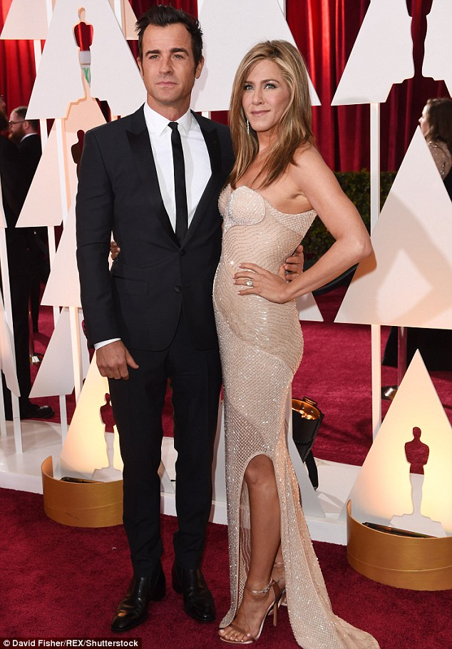 His favorite: Justin Theroux told E! News he talks to wife Jennifer Aniston day and night; here they are seen in 2015