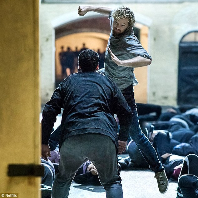 Martial artist: Game of Thrones star Finn Jones plays Danny, who returns to New York 15 years after he was presumed dead in a plane crash to reclaim his parents' billion-dollar company