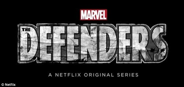 Teaming up: Marvel's Luke Cage, Jessica Jones (Krysten Ritter), Daredevil (Charlie Cox), and Iron Fist will eventually unite for the 2017 miniseries The Defenders