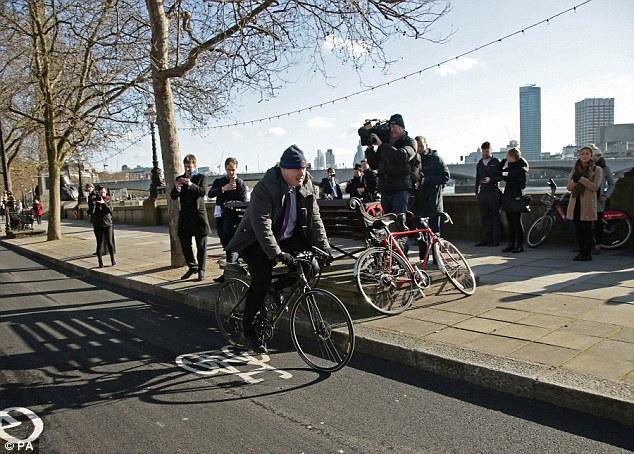The cycle superhighway on Victoria Embankment, pictured here as Boris Johnson rides along, has 'compromised' one of London's key routes, writes Tom Rawstorne