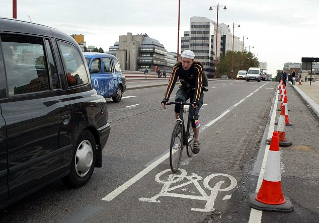 Cycle highways are becoming a common sight across London but are 'virtually empty' (file picture)