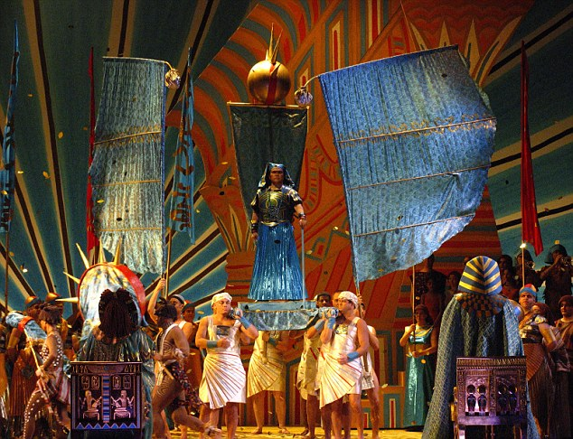 Spectacle: A performance of Aida at the English National Opera in 2007. Music Theatre Bristol had voted to perform the much-loved opera but cancelled amid a race row controversy