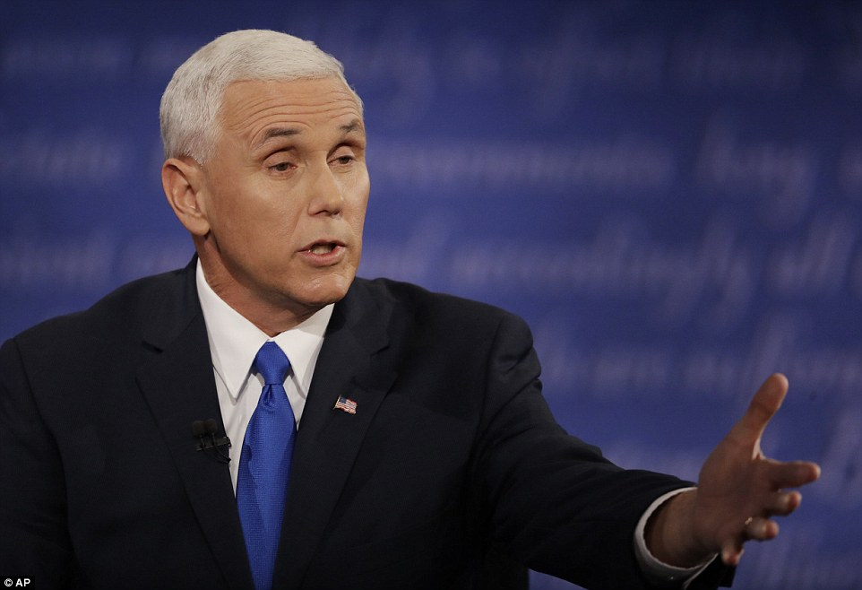 In a debate episode about cyber security, Pence went on offense to tie the topic to the now-infamous unsecured and secret email server that housed all of Hillary Clinton's electronic communications while she was secretary of state.