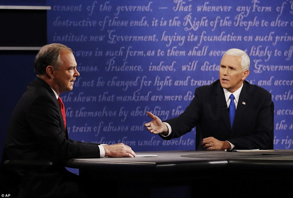 Pence went on offense to tie the topic to the now-infamous unsecured and secret email server that housed all of Hillary Clinton's electronic communications while she was secretary of state