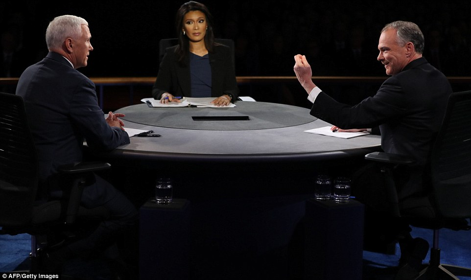 Quijano had trouble keeping the debate on track, and challenged Pence time and time again – while standing back when Kaine interrupted him more than a dozen times