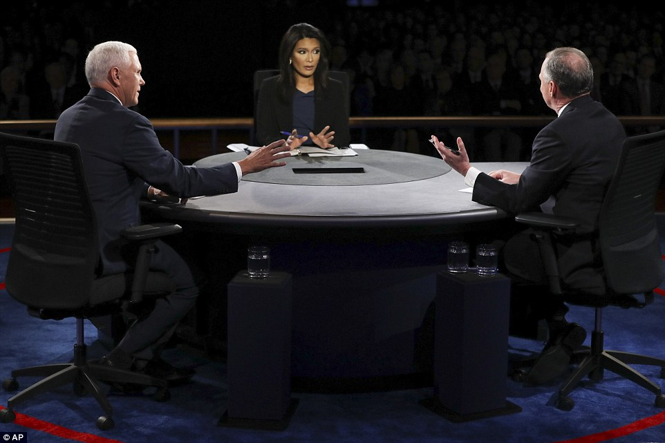 CBS correspondent Elaine Quijano tried to keep control of the proceedings as the pair exchanged jibes in their only chance to impress the voters