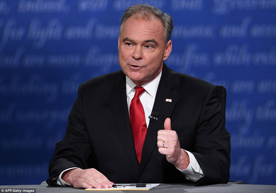 Kaine gave Clinton credit for killing Osama bin Laden, the al-Qaeda ringleader whom President Obama gave the order to kill the third time his military leaders asked him to