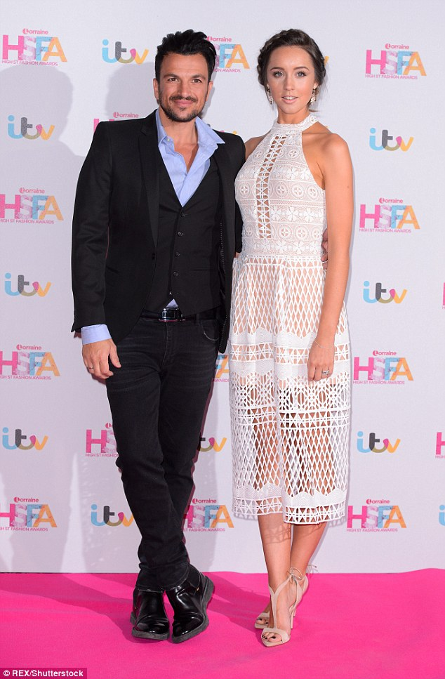 Having the best time: Peter Andre and his pregnant wife Emily MacDonagh revealed there has been no dramas with their second pregnancy in an interview with MailOnline