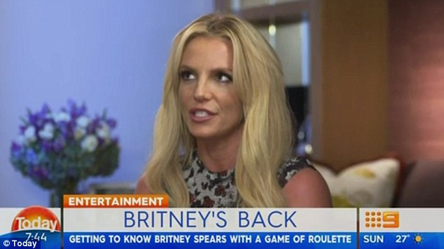 Candid confessions: Britney Spears revealed her first celebrity crush was Brad Pitt during an interview for The Today Show