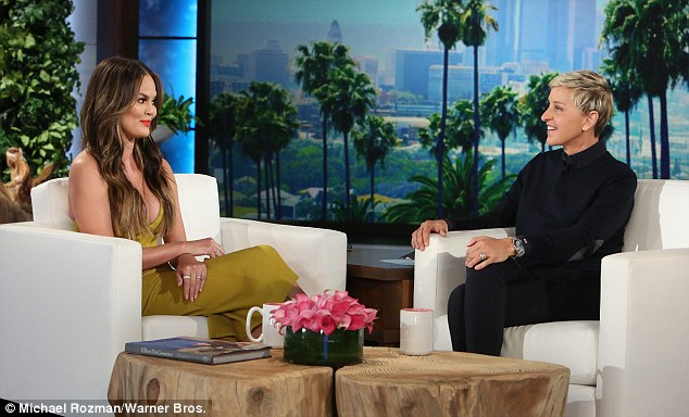 Busy day: Even before that she was in great form when she sat for an interview with Ellen DeGeneres