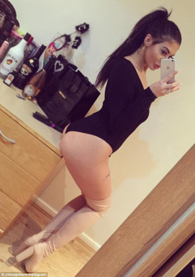 Bum's the word: She flaunted her peachy derriere in one strategically angled shot