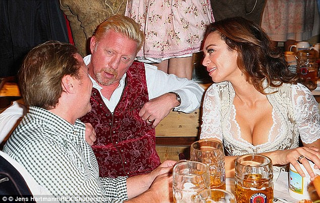 Feisty: Lilly was last seen dressed as a cleavage baring Fraulein at annual beer festival Oktoberfest
