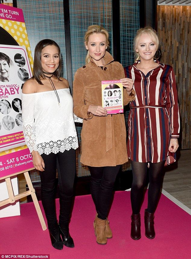 In good company: Catherine was joined by Tisha Merry and Katie McGlynn