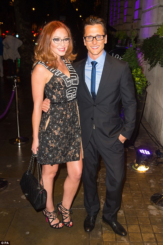 Happier times: Natasha recently split from Ella's father Ritchie Neville