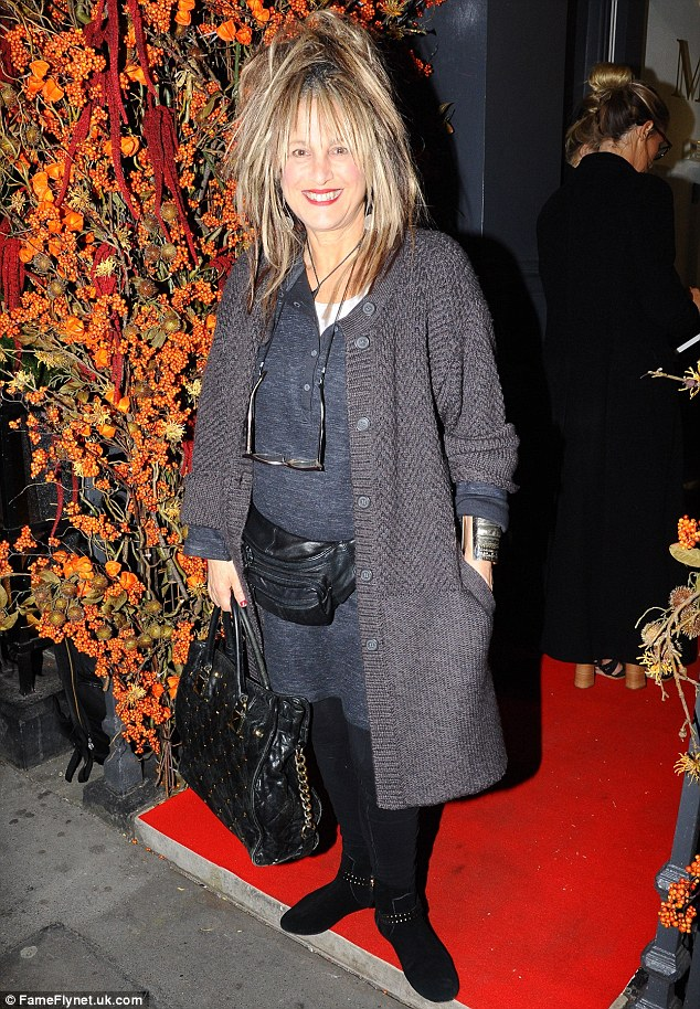 Special guest:Elizabeth Emanuel was also in attendance at the event on Tuesday evening