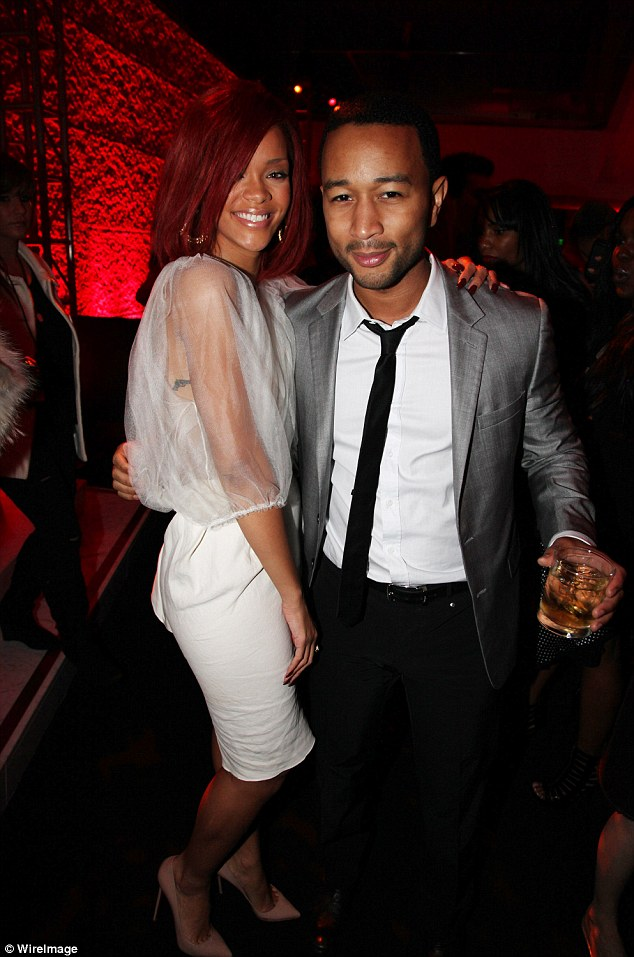 Former occupant: John Legend with Rihanna - whose former home he now lives in