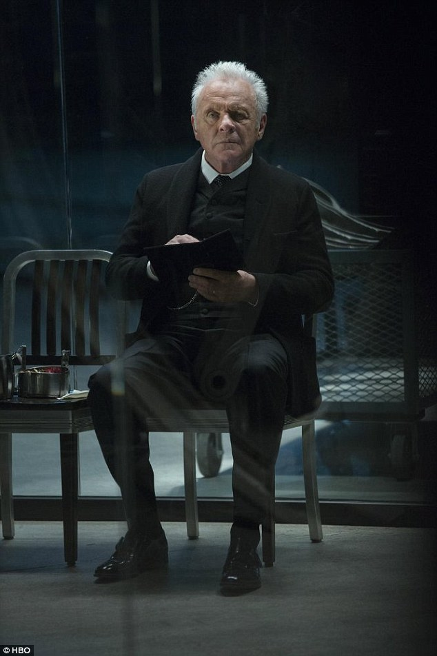 One reason to not miss it: Anthony Hopkins plays the robots' ageing/fading messianic creator Dr Ford