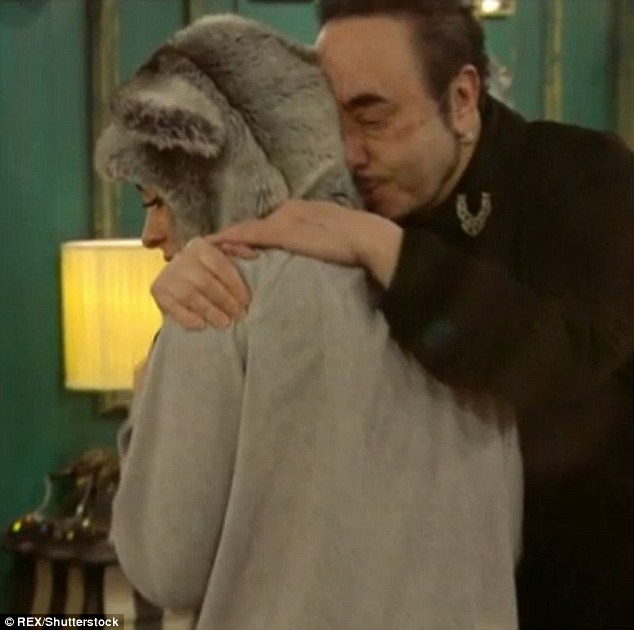 Best of friends: David  and Stephanie struck up a friendly relationship in the CBB house
