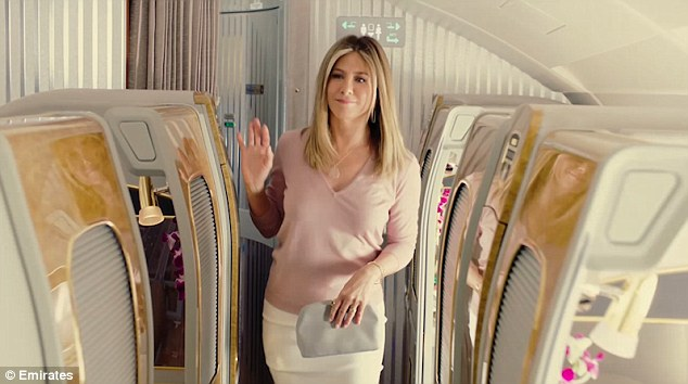 That luxury feel: In a teaser clip for the new ad, the 47-year-old actress looks nothing but relaxed - even though she returns to her seat to find someone else ensconced in it