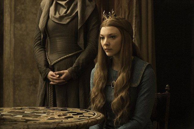 Moving on: Natalie looked a far cry from her Game Of Thrones characterMargaery Tyrell