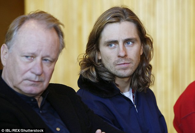Another doppelganger: Newcomer Sverrir was a doppelganger for his character at the event, and looked almost identical to Swedish tennis legend,Bjorn