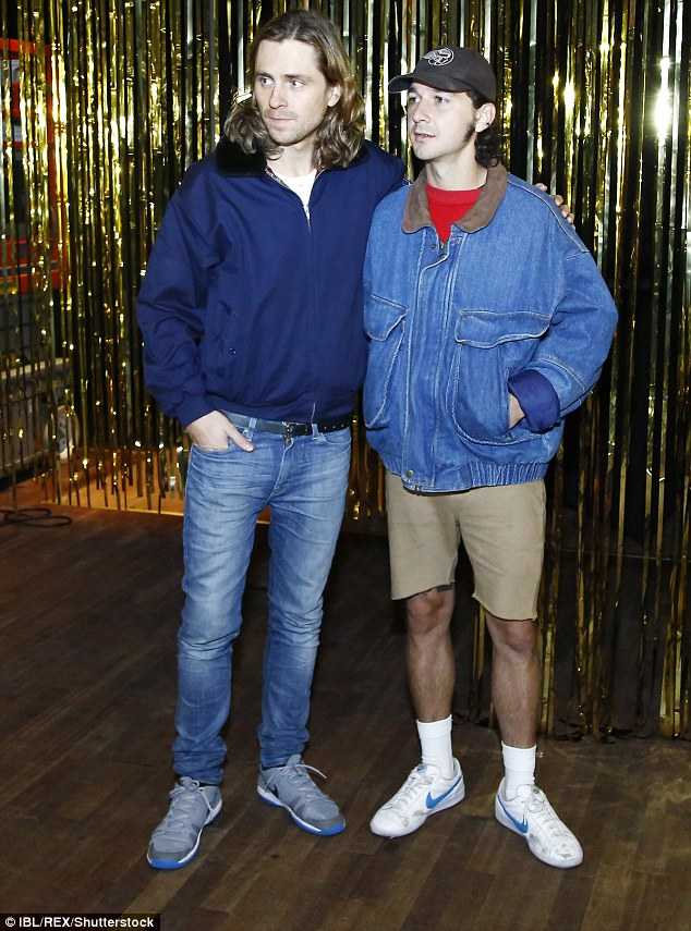 Buddied: Sverrir and Shia looked to have formed a firm friendship while working on the film