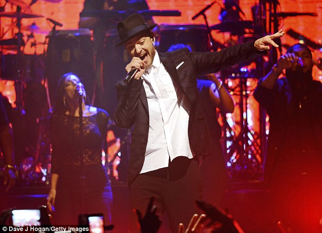 SexyBack: Justin Timberlake proved his megastar status as he performed in London on Monday as part of Capital FM Up Close series