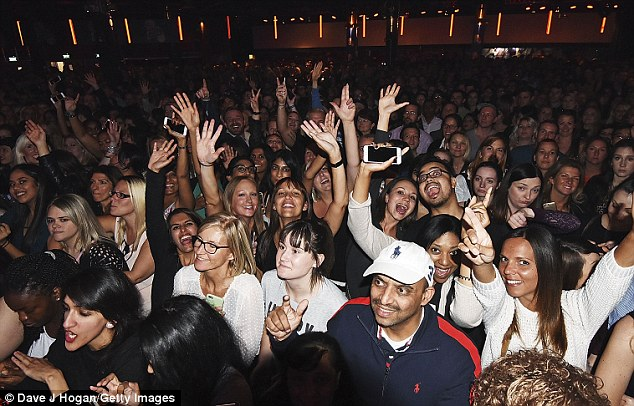 Got the rhythm: Everyone was grooving to Justin's music here