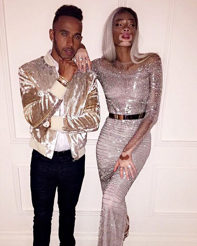 New couple alert? The 5ft 9in model, who is rumoured to be dating Lewis Hamilton, often opens up about her rare condition, expressing she is more than just her skin