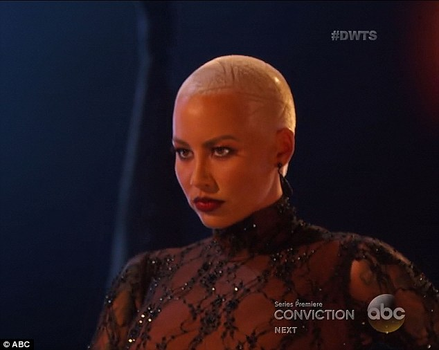 Head to head: Before they even started judging, Amber confronted Julianne - who has insisted her words were taken out of context and purely referred to her dance, not her body - about how she had been left feeling