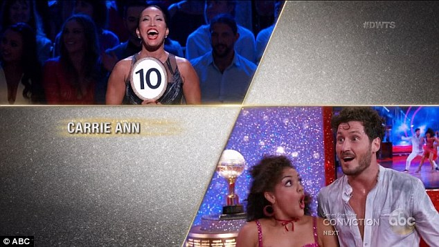 OMG! The Olympian couldn't hide her shock at getting 10s across the board