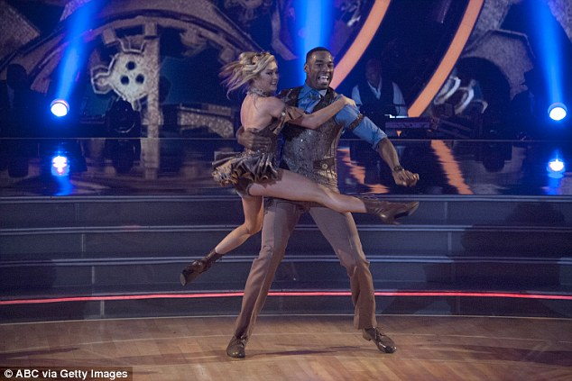 Much better: But their routine, a Charleston to the Cirque show Kurios, went far smoother, with Julianne Hough calling him 'Twinkle Toes' and insisting: 'You guys completely nailed that.'