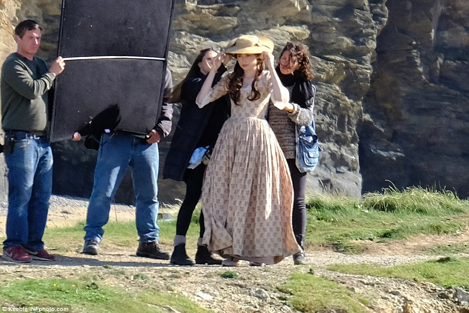 A real lady: The actress who plays Poldark's first love Elizabeth, was dressed in all the finery of a country lady