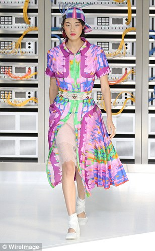 Prints were graphic and technology inspired