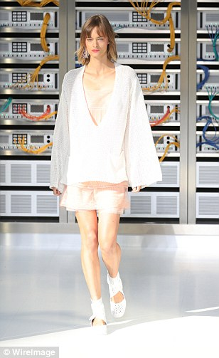 They also wore white broderie anglaise sandals designed with summer 2017 in mind