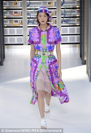Karl's show looked to the future by fusing technology and fashion