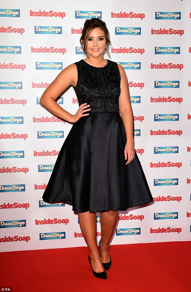 Classy: EastEnders star Jacqueline Jossa, who plays Lauren Branning, also attend the Inside Soap Awards 2016 held at The Hippodrome