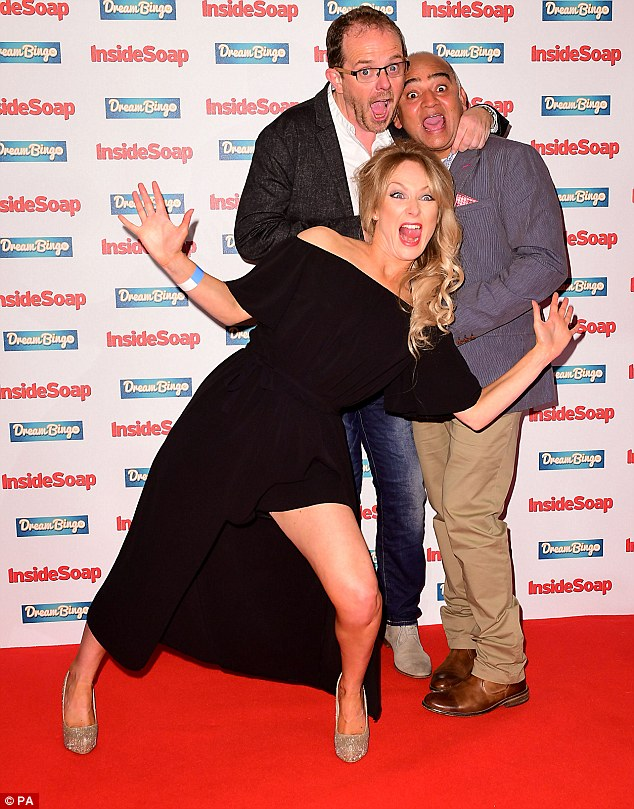 High spirits:Liam Fox, Michelle Hardwick, Bhasker Patel were in the mood to party at the annual event
