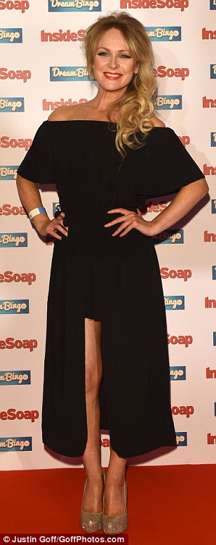 Looking good: Michelle Hardwick opted for a stylish look in her choice of dress