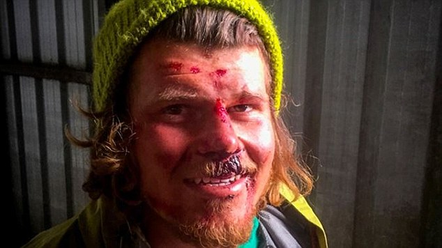 Jamie Hareb was hiking up a mountain gully in New Zealand's South Island when an avalanche he was caught in an avalanche