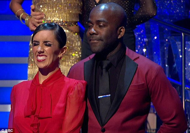 Heading home: Melvin Odoom (left) and his partner Janette Manrara (right) became the first celebrity couple to leave Strictly Come Dancing on Sunday