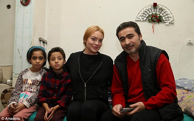 Helping hand: Lohan is happy to use her fame and influence toward causes near to her heart