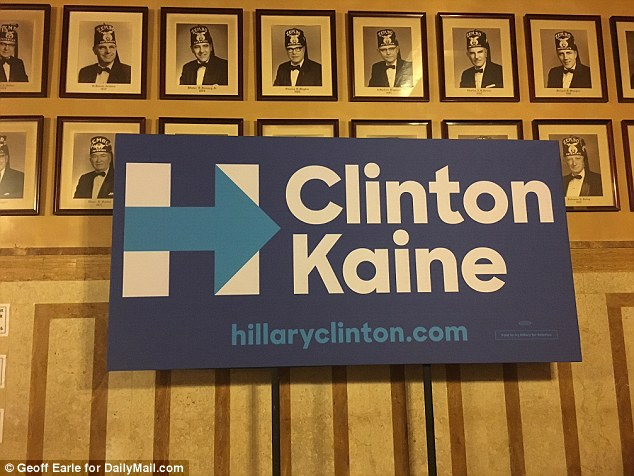 Secretive group with a lot to hide: The Clinton campaign held its stump stop and press conference in the Zembo Shrine