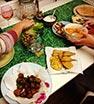 @marthathursday Friday night dinner with my lovely lovely housemates