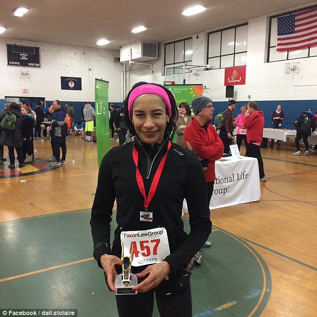 After running for five years, at the age of 57. Dail picked up her first trophy at the Connecticut Half Marathon. She is taking a break from full marathons and focusing on short races