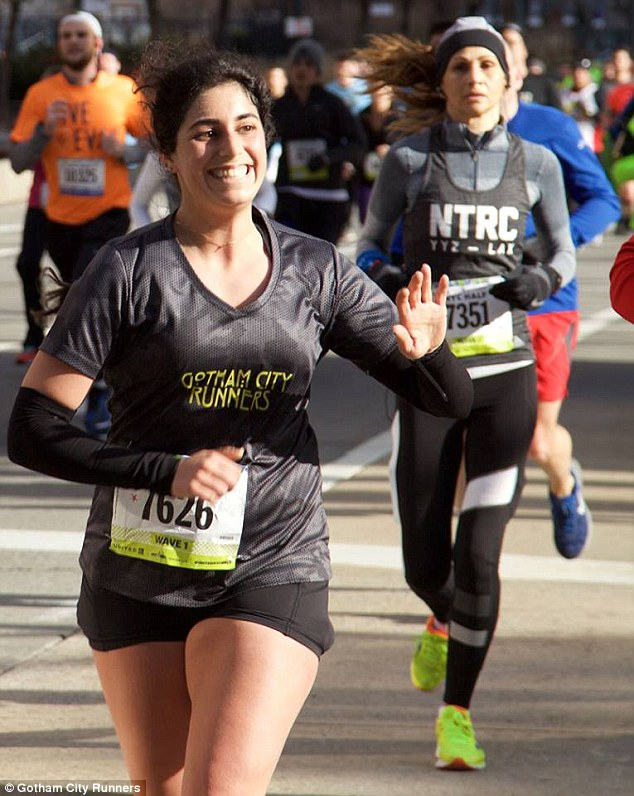 But Elbaz ended up gaining 15 pounds all while training for her first marathon