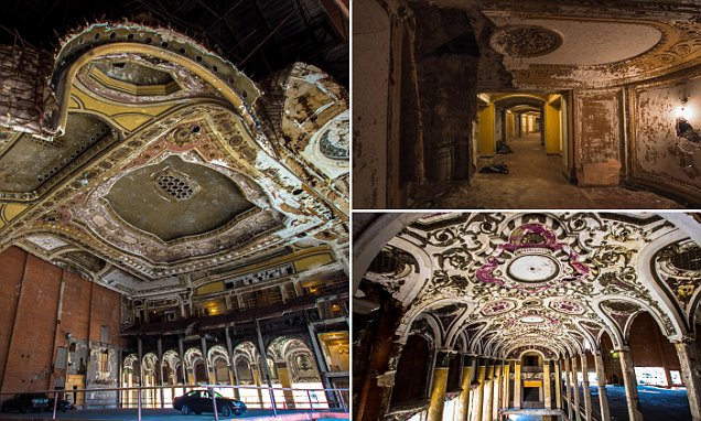 Inside an eerie abandoned theater in downtown Detroit which shows how the Motor City's