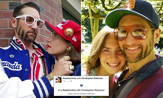 Amanda Knox makes it official with new boy toy Christopher Robinson