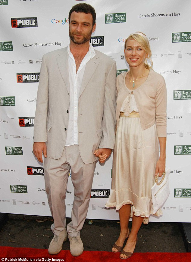 The way we were: The pair had struck up their romance in 2005; they're pictured here in 2006 at The Public Theater's Summer Gala in honour of Kevin Kline and Meryl Streep